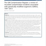 GM contamination register 2014